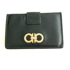 Salvatore Ferragamo Black Card Holders